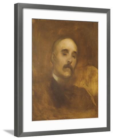 Georges Clemenceau (1841-1929)-Eugene Carriere-Framed Art Print