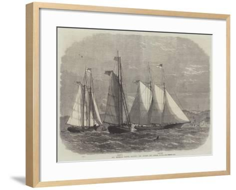 The American Yachts Saluting Her Majesty Off Osborne House-Edwin Weedon-Framed Art Print