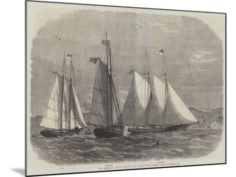 The American Yachts Saluting Her Majesty Off Osborne House-Edwin Weedon-Mounted Giclee Print