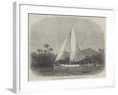 Steel Boat for the Expedition in Search of Dr Livingstone-Edwin Weedon-Framed Art Print