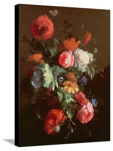 Poppies-Elias Van Den Broeck-Stretched Canvas Print