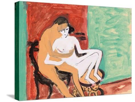 Lovers or Young Couple, 1910-Ernst Ludwig Kirchner-Stretched Canvas Print