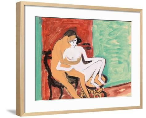 Lovers or Young Couple, 1910-Ernst Ludwig Kirchner-Framed Art Print