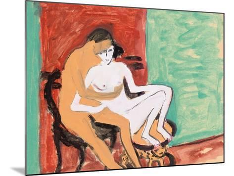 Lovers or Young Couple, 1910-Ernst Ludwig Kirchner-Mounted Giclee Print