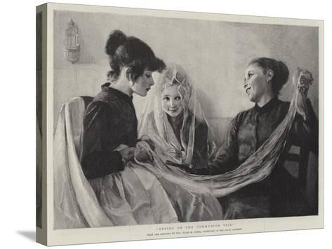 Trying on the Communion Veil-F. M. Stark-Stretched Canvas Print