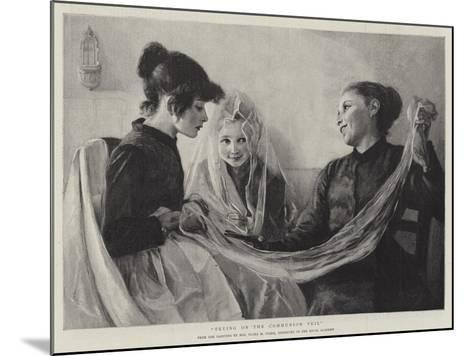 Trying on the Communion Veil-F. M. Stark-Mounted Giclee Print