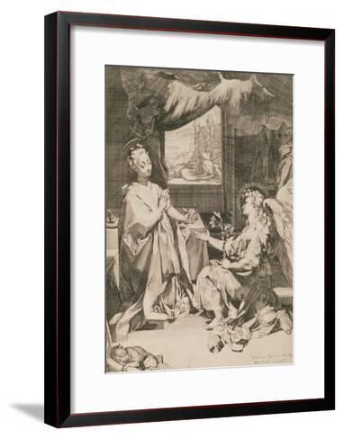 The Annunciation, C.1581-Federico Fiori Barocci-Framed Art Print