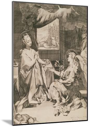 The Annunciation, C.1581-Federico Fiori Barocci-Mounted Giclee Print