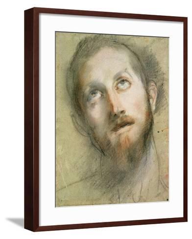 Study for the Head of Christ-Federico Fiori Barocci-Framed Art Print