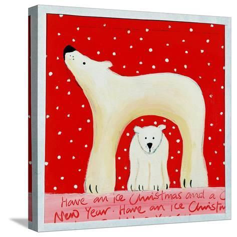 Christmas Polar Bears, 2000-Emma A.L. Greaves-Stretched Canvas Print