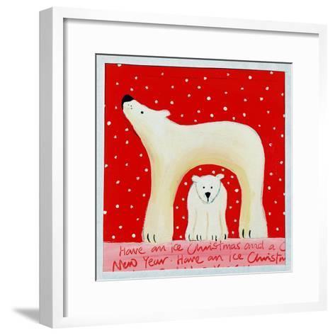 Christmas Polar Bears, 2000-Emma A.L. Greaves-Framed Art Print