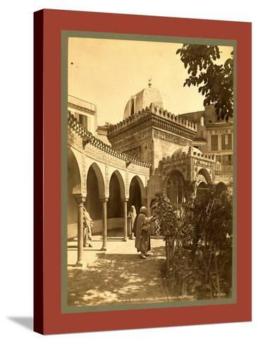 Oran Court of the Mosque of Pasha Djama El Bacha, Rue Philippe, Algiers-Etienne & Louis Antonin Neurdein-Stretched Canvas Print