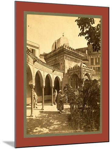 Oran Court of the Mosque of Pasha Djama El Bacha, Rue Philippe, Algiers-Etienne & Louis Antonin Neurdein-Mounted Giclee Print