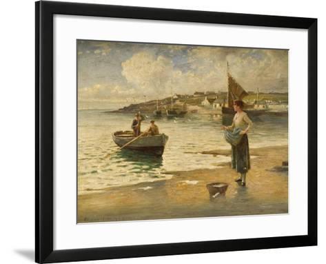 Landing a Catch, B-Eugene Joseph McSwiney-Framed Art Print