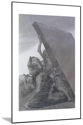 193-0082159 and Still They Don't Go!, Plate 59 of 'Los Caprichos', 1799-Francisco de Goya-Mounted Giclee Print