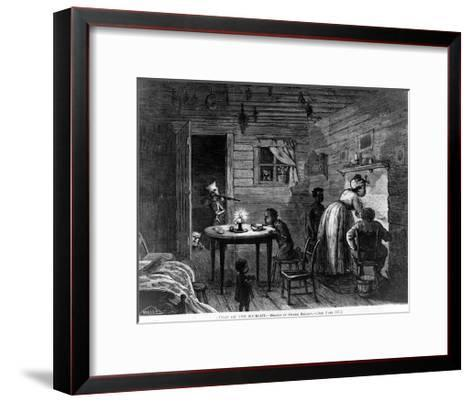 Visit of the Ku-Klux, 1872-Frank Bellew-Framed Art Print