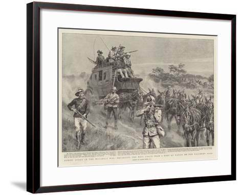 Heroic Deeds in the Matabele War-Frank Dadd-Framed Art Print