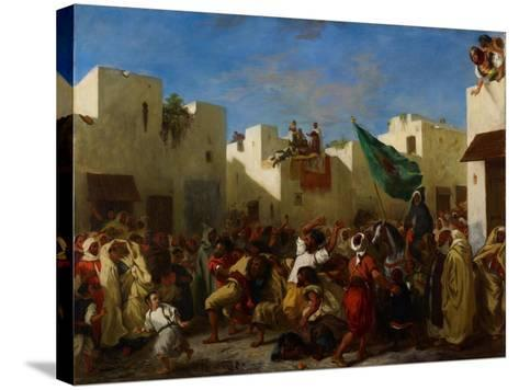 Fanatics of Tangier, C.1837-38-Eugene Delacroix-Stretched Canvas Print
