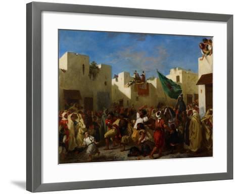 Fanatics of Tangier, C.1837-38-Eugene Delacroix-Framed Art Print