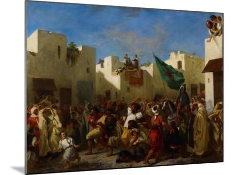 Fanatics of Tangier, C.1837-38-Eugene Delacroix-Mounted Giclee Print