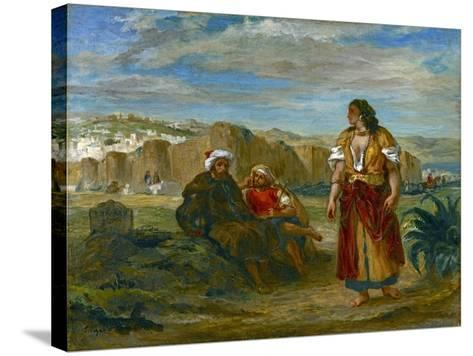View of Tangier, 1852-3-Eugene Delacroix-Stretched Canvas Print