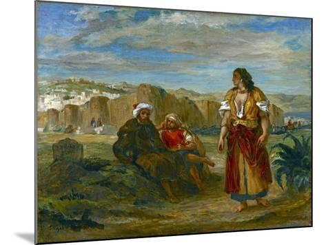 View of Tangier, 1852-3-Eugene Delacroix-Mounted Giclee Print