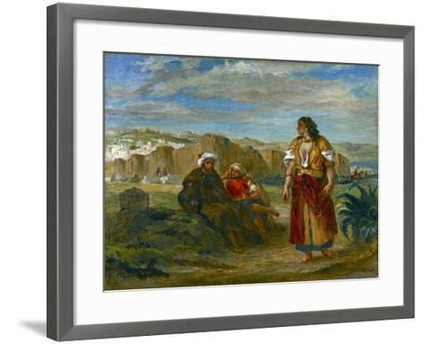 View of Tangier, 1852-3-Eugene Delacroix-Framed Art Print