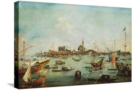 The Doge on the Bucentaur in Front of San Nicolò Del Lido, on Ascension Day, C.1766-70-Francesco Guardi-Stretched Canvas Print