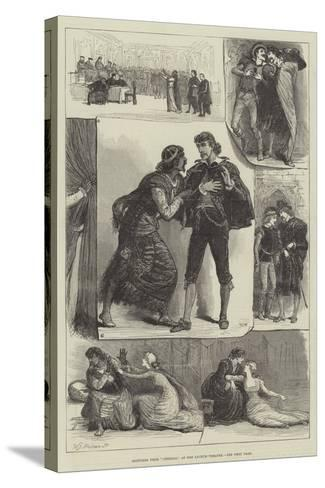 Sketches from Othello, at the Lyceum Theatre-Francis S. Walker-Stretched Canvas Print