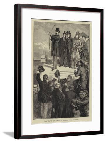 The Mayor of Limerick Wedding the Shannon-Francis S. Walker-Framed Art Print