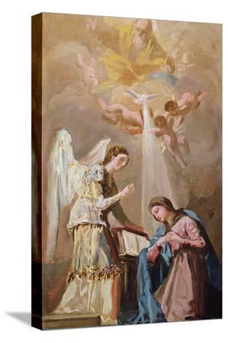 The Annunciation (Oil)-Francisco de Goya-Stretched Canvas Print