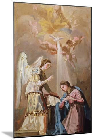 The Annunciation (Oil)-Francisco de Goya-Mounted Giclee Print