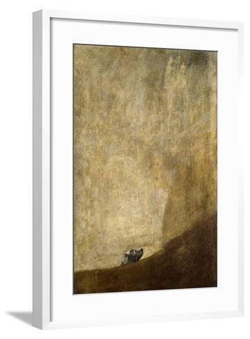 The Dog, 1820-23-Francisco de Goya-Framed Art Print
