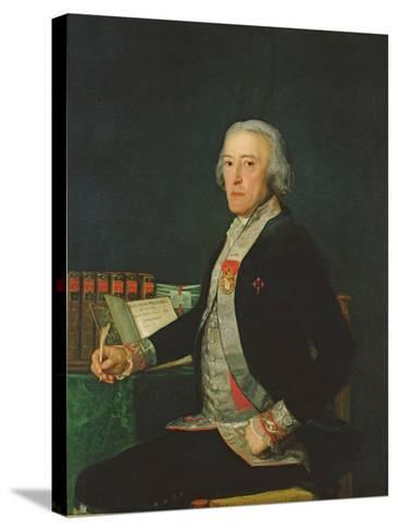 Portrait of Felix Colon De Larriategui, 1794-Francisco de Goya-Stretched Canvas Print