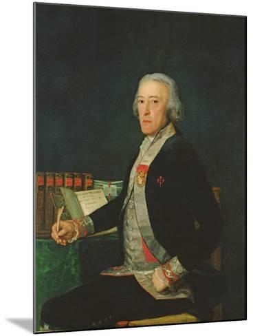 Portrait of Felix Colon De Larriategui, 1794-Francisco de Goya-Mounted Giclee Print