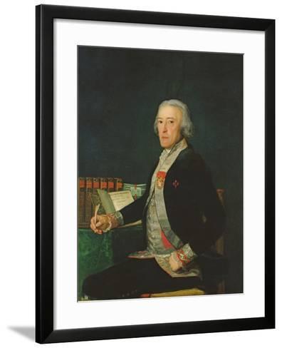 Portrait of Felix Colon De Larriategui, 1794-Francisco de Goya-Framed Art Print