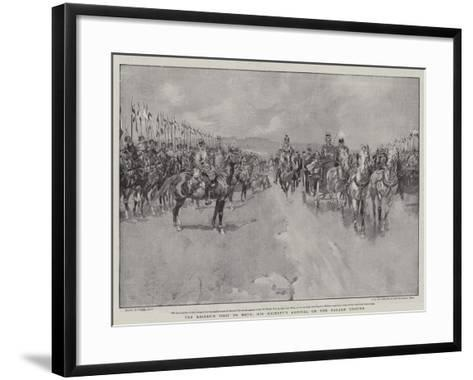 The Kaiser's Visit to Metz, His Majesty's Arrival on the Parade Ground-Frank Craig-Framed Art Print