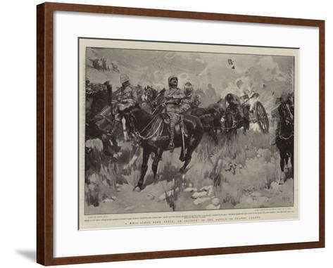 A Well-Aimed Boer Shell, an Incident in the Battle of Elands Laagte-Frank Craig-Framed Art Print