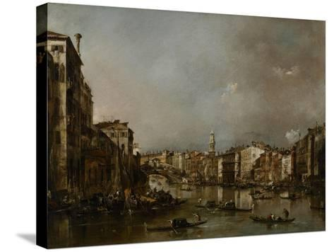 View Up the Grand Canal Toward the Rialto, C.1785-Francesco Guardi-Stretched Canvas Print