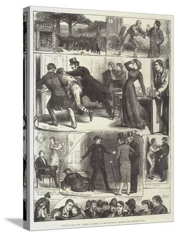Sketches from the Lights O' London, at the Princess's Theatre-Francis S. Walker-Stretched Canvas Print
