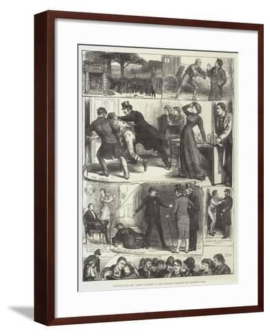 Sketches from the Lights O' London, at the Princess's Theatre-Francis S. Walker-Framed Art Print
