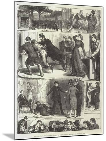 Sketches from the Lights O' London, at the Princess's Theatre-Francis S. Walker-Mounted Giclee Print