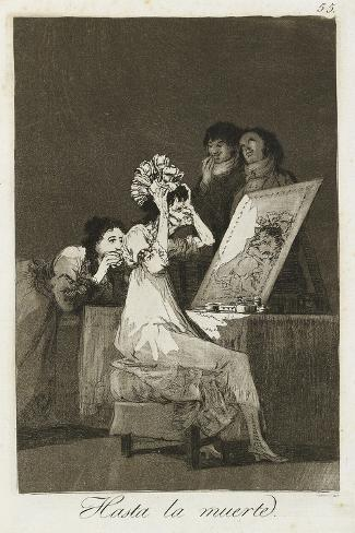 Hasta La Muerte, 1799-Francisco de Goya-Stretched Canvas Print