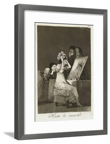 Hasta La Muerte, 1799-Francisco de Goya-Framed Art Print