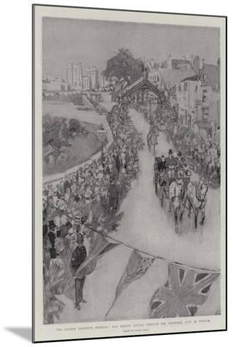 The Queen's Eightieth Birthday, Her Majesty Driving Through the Triumphal Arch at Windsor-Frank Craig-Mounted Giclee Print