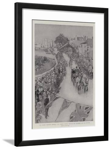 The Queen's Eightieth Birthday, Her Majesty Driving Through the Triumphal Arch at Windsor-Frank Craig-Framed Art Print