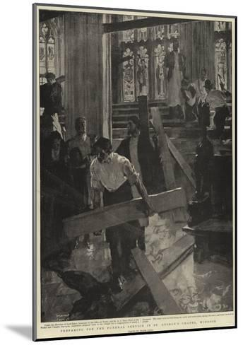 Preparing for the Funeral Service in St George's Chapel, Windsor-Frank Craig-Mounted Giclee Print