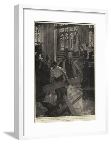 Preparing for the Funeral Service in St George's Chapel, Windsor-Frank Craig-Framed Art Print