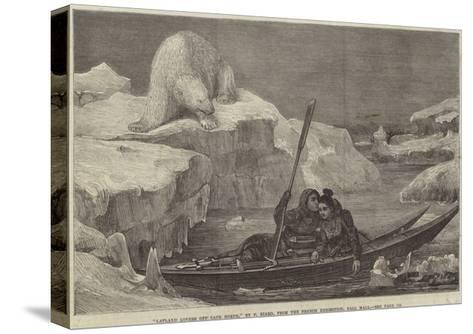 Lapland Lovers Off Cape North-Francois Auguste Biard-Stretched Canvas Print