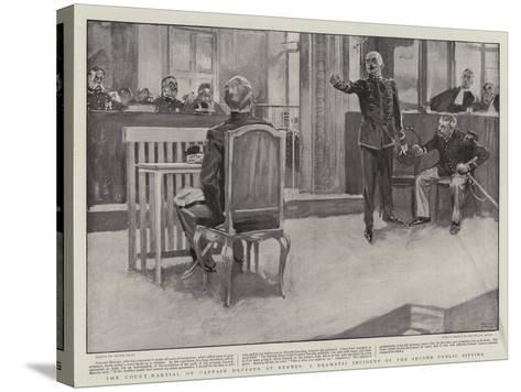 The Court-Martial on Captain Dreyfus at Rennes, a Dramatic Incident of the Second Public Sitting-Frank Craig-Stretched Canvas Print